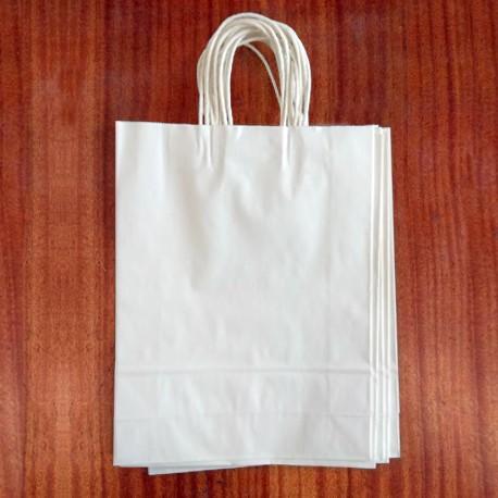 Крафт пакет білий 18х8х25