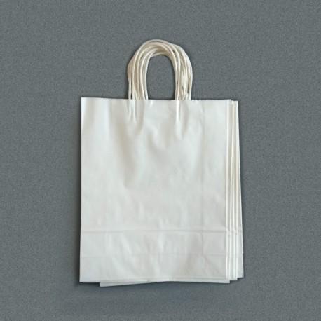 Крафт пакет білий 23х13х32