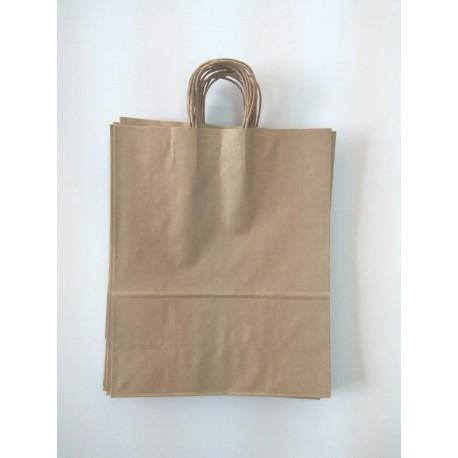 Крафт пакет коричневий 32х13х42